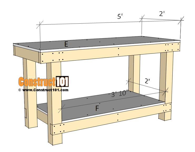 Simple Workbench Plans Construct101 Simple workbench