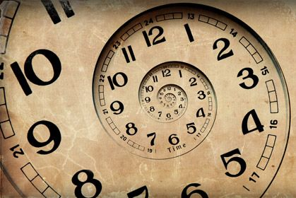 Infinite Time Clock Clocks Back Time Travel
