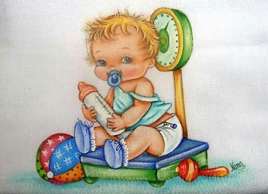 Bebe N Balanca Pintura Em Tecido Infantil Pintura Infantil E