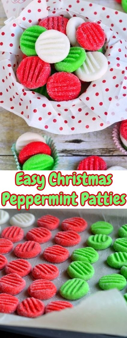 Easy Christmas Peppermint Patties - These are so bright and cheerful! Perfect for a holiday treat #holidaytreats