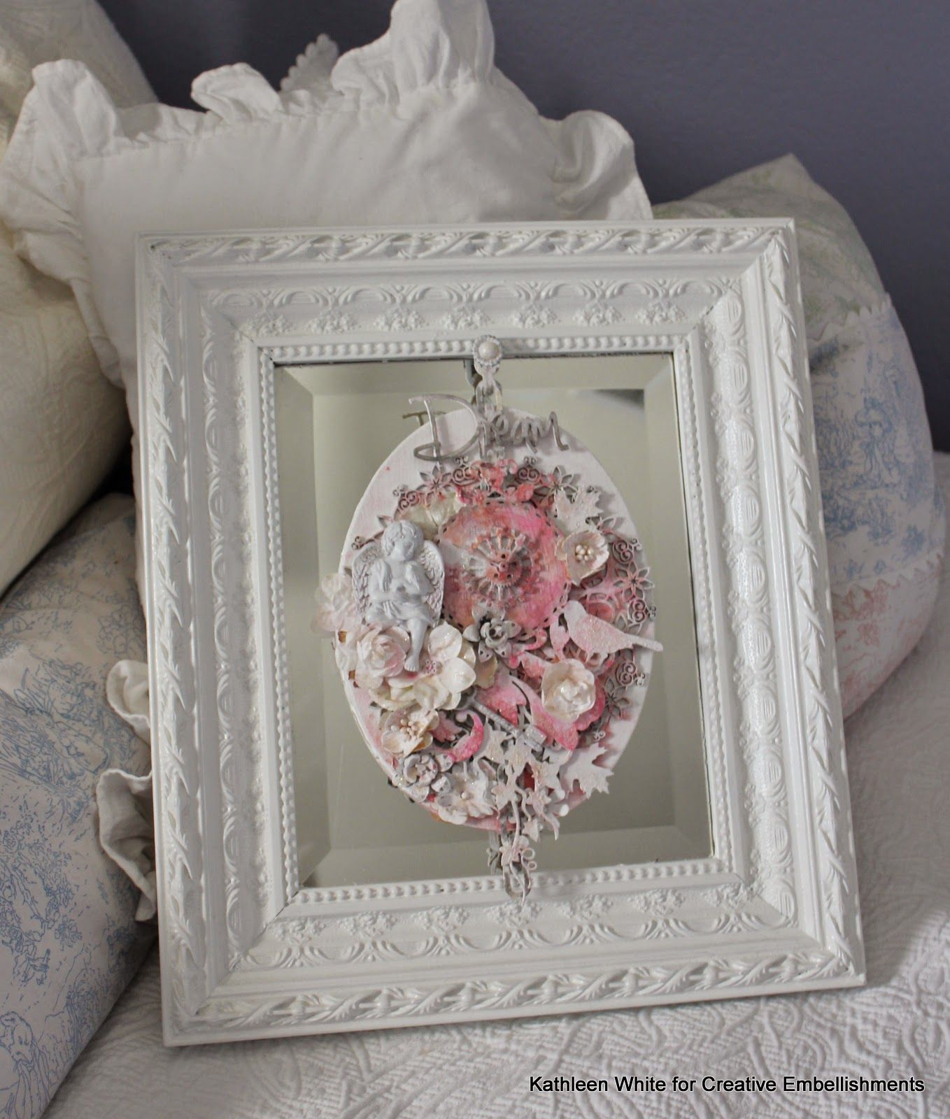 Kathleen White - canvas- February Challenge- - Creative Embellishments