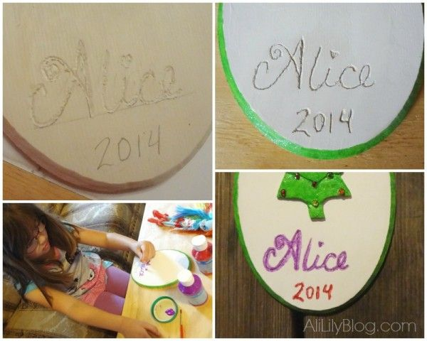 Easy Personalized Kid Decorated Christmas Art with the Dremel Micro #MyBrilliantIdea #CleverGirls