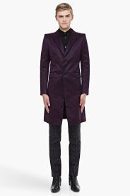 Long Purple Evening Coat - Alexander McQueen