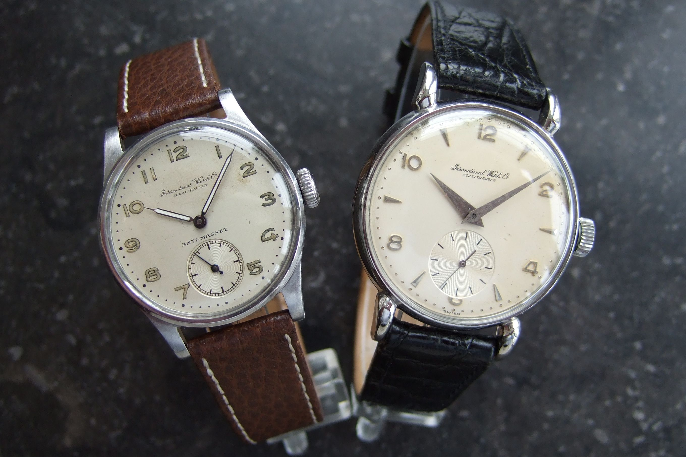 A pair of lovely vintage and heirloom IWC watches
