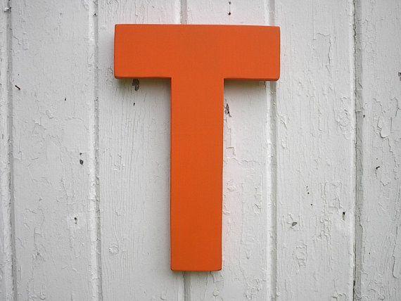 Inch Big Block Wood Letter T Capital Letters Nursery Kids Wall