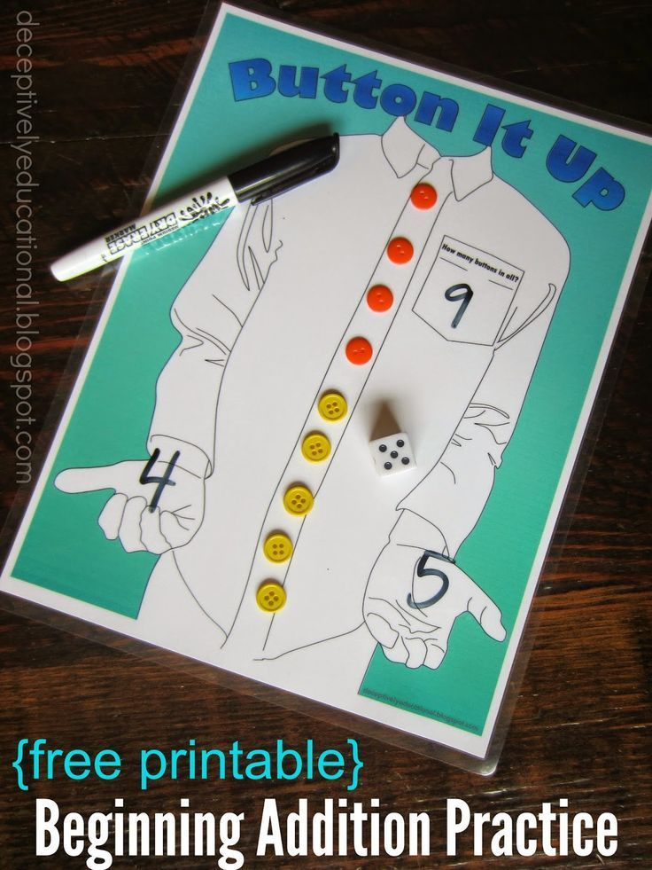 A fun game for teaching addition | Subtraction activities, Math ...