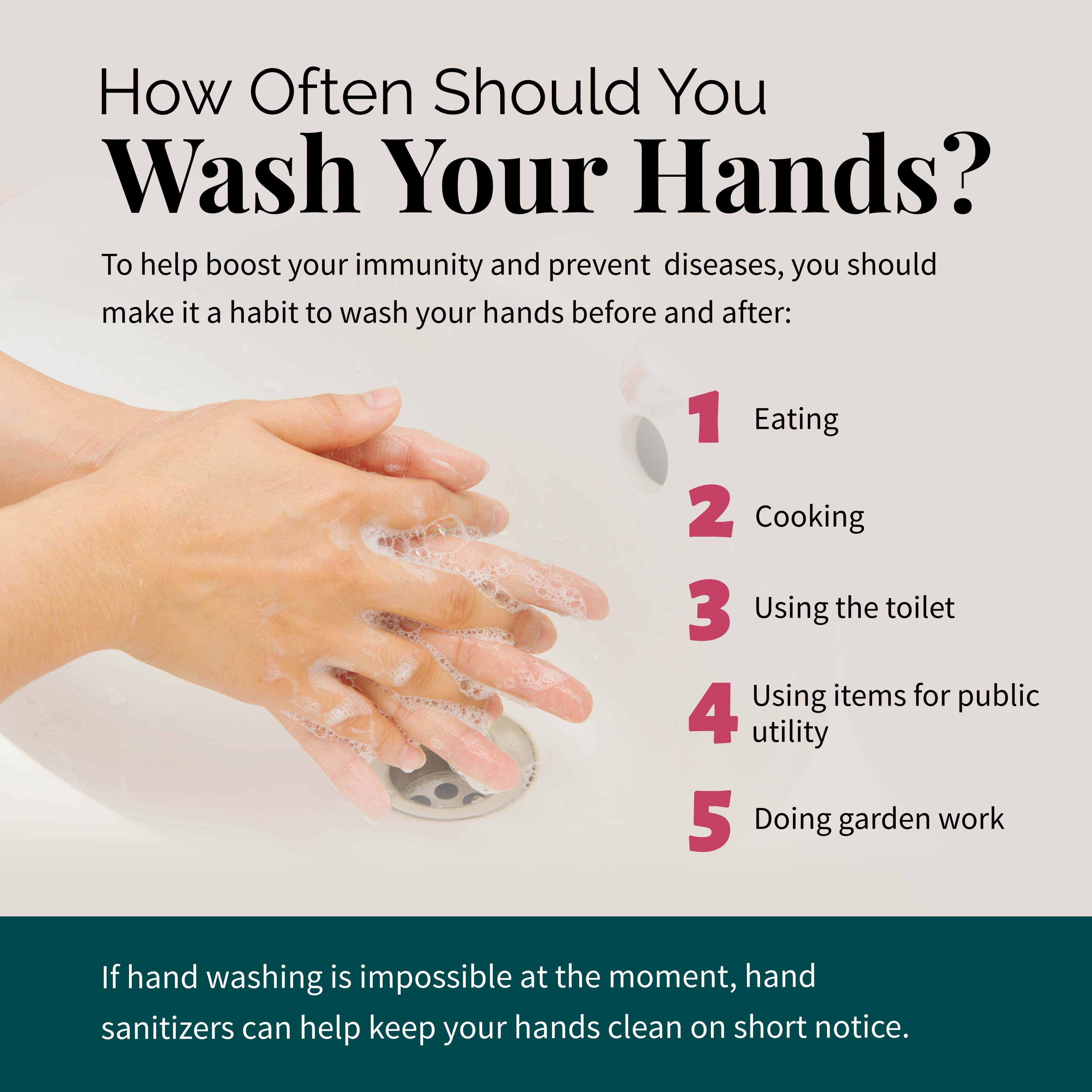 How Often Should You Wash Your Hands?