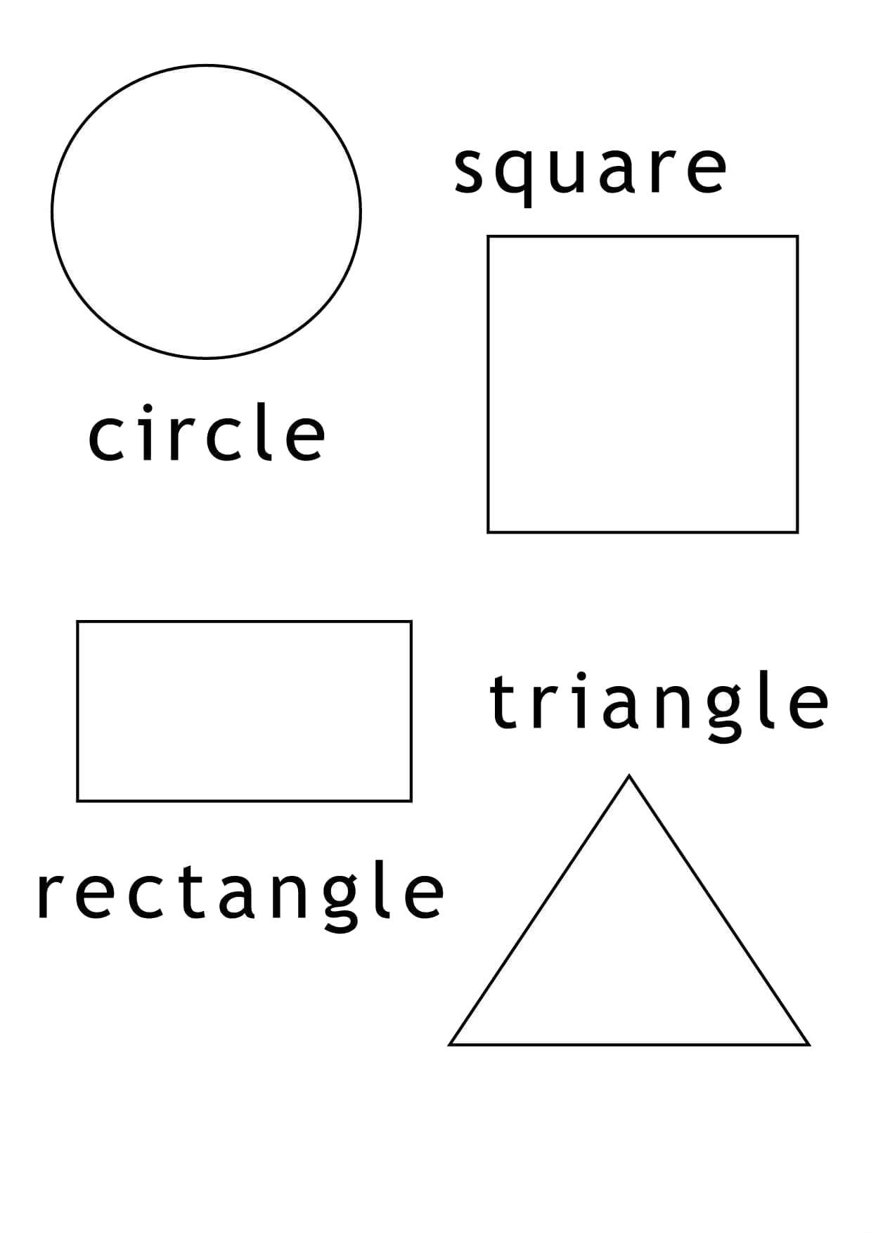 Rectangle Shapes And Others Coloring Pages For Kids Ecg
