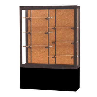 "Waddell Challenger Series Case Backing: Cork, Frame Finish: Dark Bronze, Size: 66"" H x 48"" W"