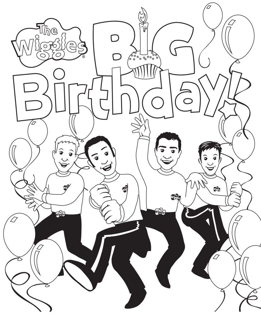Free Printable Wiggles Coloring Pages For Kids Wiggles Birthday Coloring Pages For Kids Wiggles Party