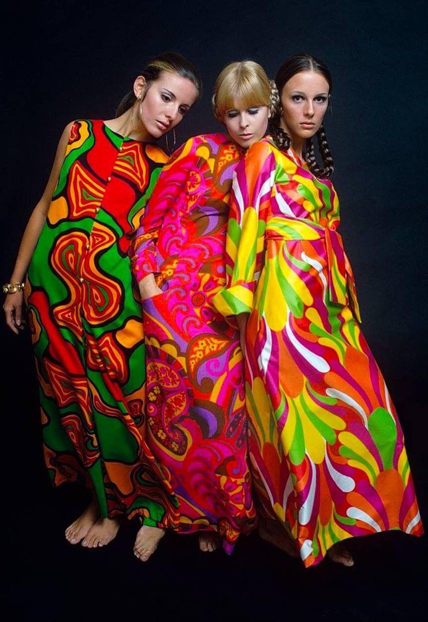 Sixties u psychedelic long dresses mademoiselle magazine