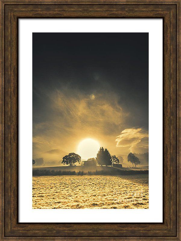Farm Framed Print featuring the photograph Rise And Shine by Ryan Jorgensen