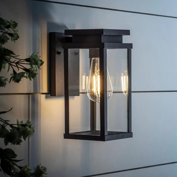 Ebony Lantern Wall Light In 2020 Modern Outdoor Wall Lighting Wall Lights Exterior Wall Light
