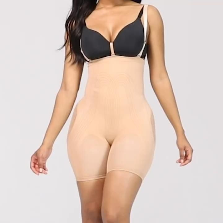 Women High Waisted Shapewear with Bra Clips Tummy