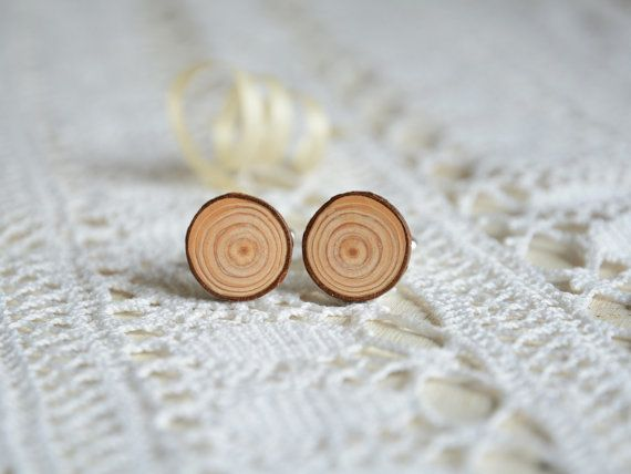 anniversary gift for men natural cuff links with wooden box minimalist rustic cuff links Wooden cuff links larch wood cuff links