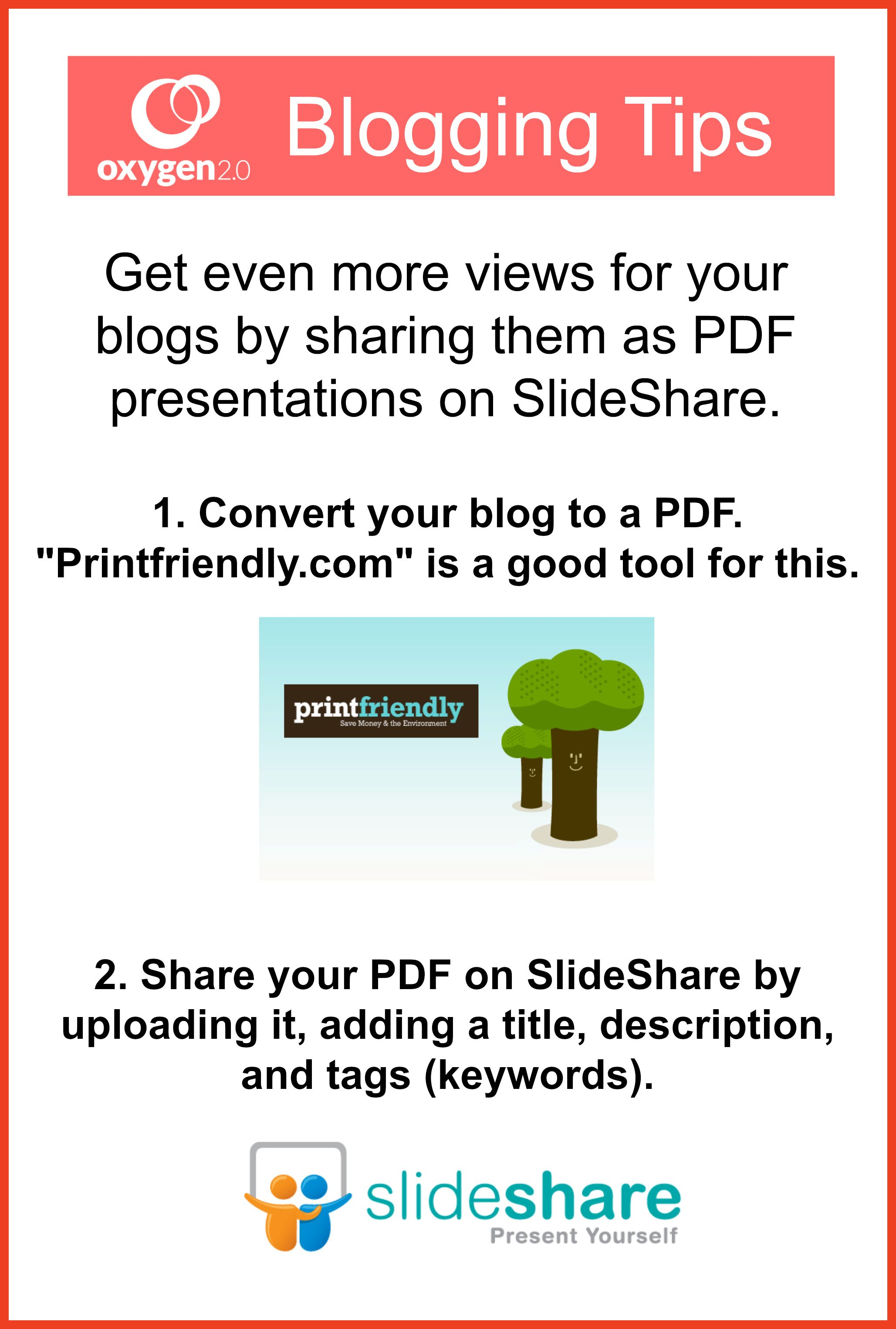 get even more views for your blogs by sharing them as pdf