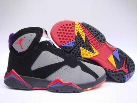 online retailer 09db2 6a14e Air Jordan 7 Retro shoes Gray Black Red Men