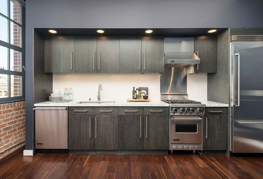 29 gorgeous one wall kitchen designs layout ideas one wall kitchen kitchen cupboard designs on kitchen cabinets vertical lines id=56808