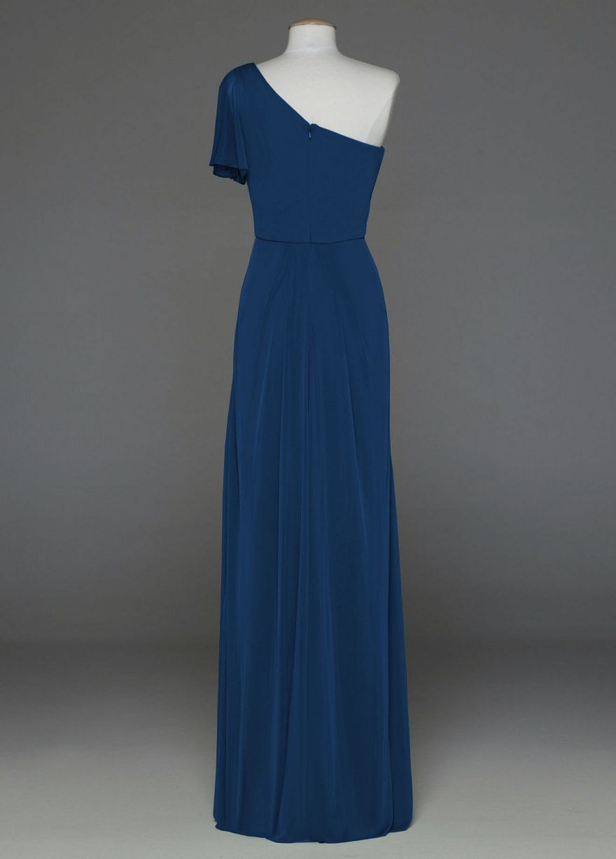 Back of bridesmaid dress at davidus bridal in a blue color not