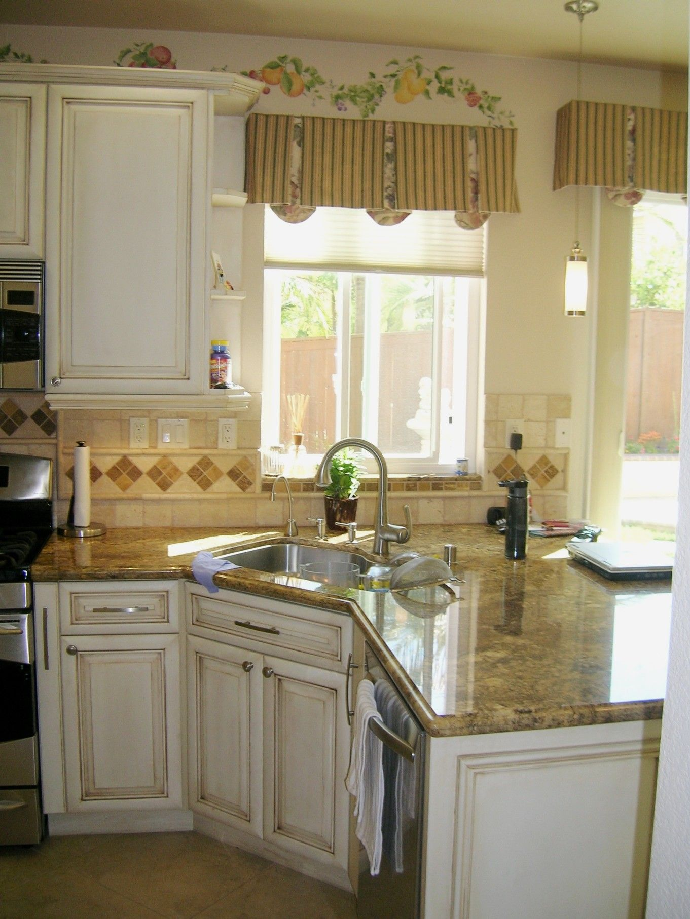 Small Kitchen Ideas Peninsula Custom Shabby Chic Finish