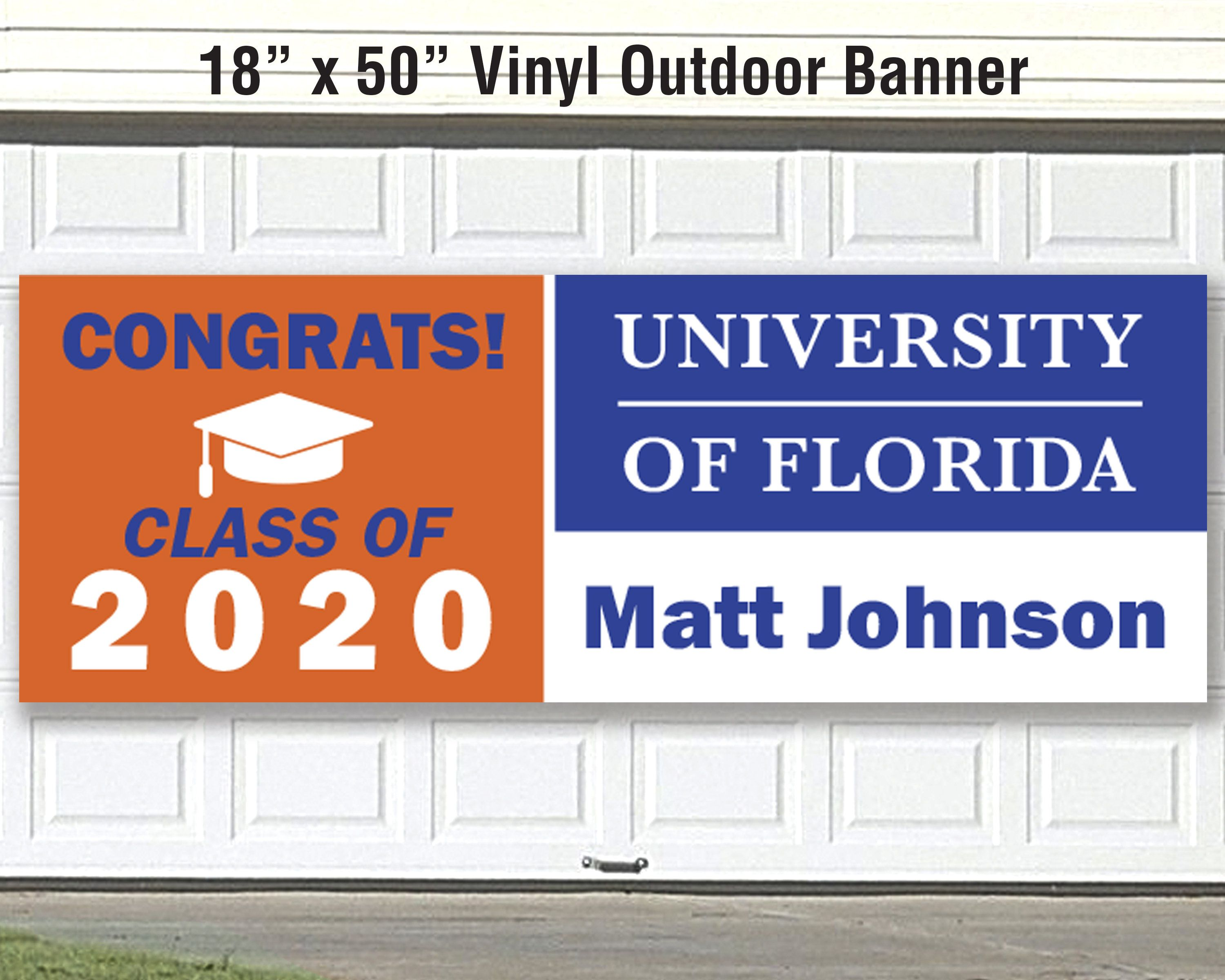 College University Banner Custom Colors Congrats To Graduates Etsy In 2020 Vinyl Banners Outdoor Vinyl Banners Custom Color
