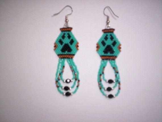 Brick Sch Earrings Patterns Free Wolf Paw Pottery Delica Seed Beading Dangle Earring Pdf E
