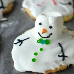 Melting Snowman #Cookies - #Holiday #Christmas