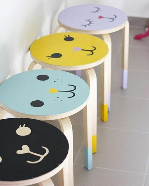 Funny Stools For Children Zabavnye Taburetki Dlya Detej Frosta Ikea Deco Chambre Enfant Customiser Meuble Ikea