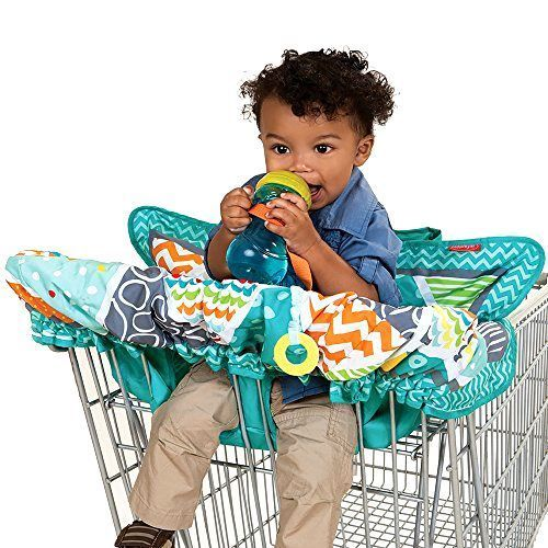 Teal Baby Compact Cart Cover Infant Harness Toddler Shopping Kids