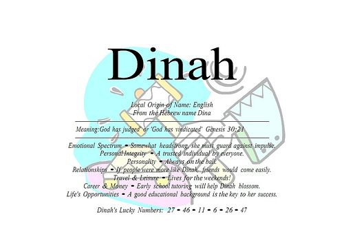 what does dinah mean in hebrew