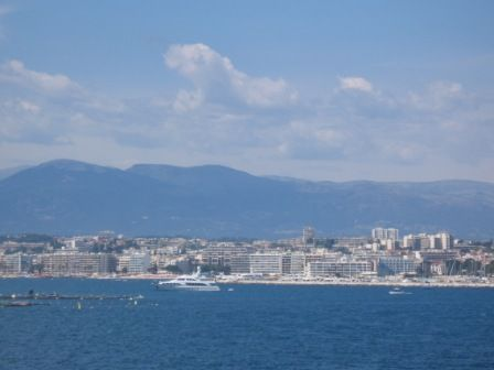 Antibes, Cote d'Azur, France, from the very blue water.