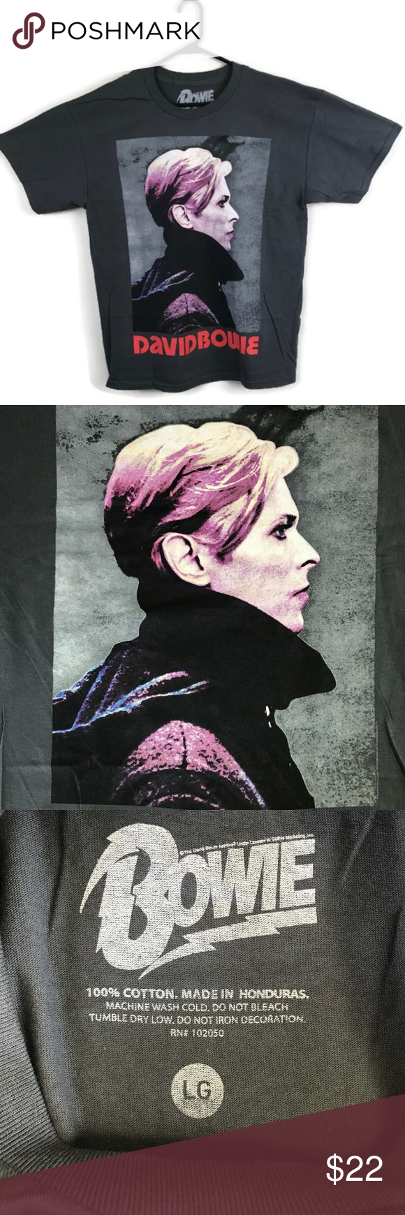 David Bowie Low Official Merch T-shirt NEW LARGE David Bowie Low Album Profile Dark Gray Large Print T-shirt  New - Sealed in bag Size Large Measurements: 22 across chest 27 length Bowie Shirts Tees - Short Sleeve #lowalbum David Bowie Low Official Merch T-shirt NEW LARGE David Bowie Low Album Profile Dark Gray Large Print T-shirt  New - Sealed in bag Size Large Measurements: 22 across chest 27 length Bowie Shirts Tees - Short Sleeve #lowalbum
