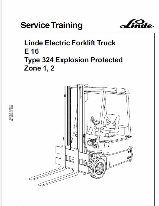 Linde Type 322, 323, 324 Forklift Model: E10, E12, E14, E15, E16, E20, E25,  E30 Workshop Service Manual | Repair manuals, Manual, E30Pinterest