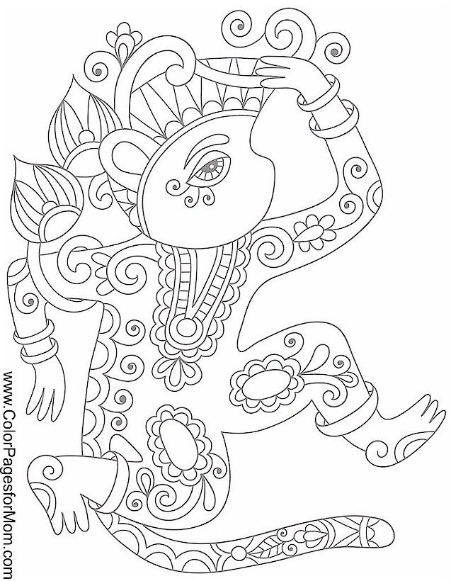 creature coloring page 4   Geometric coloring pages ...