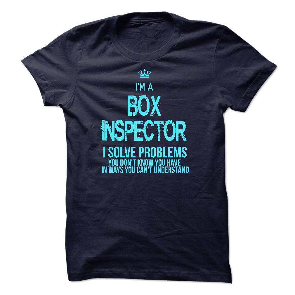 I am BOX INSPECTOR T-Shirts, Hoodies. BUY IT NOW ==► https://www.sunfrog.com/LifeStyle/I-am-BOX-INSPECTOR.html?id=41382