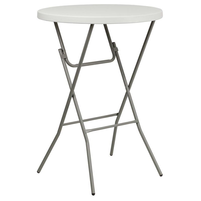 Folding Round Highboy Table (bar Height