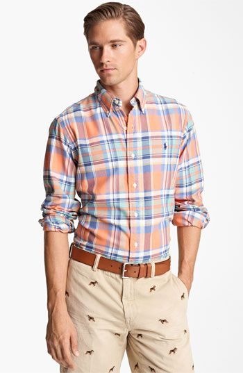Polo ralph lauren custom fit sport shirt nordstrom for Nordstrom custom dress shirts