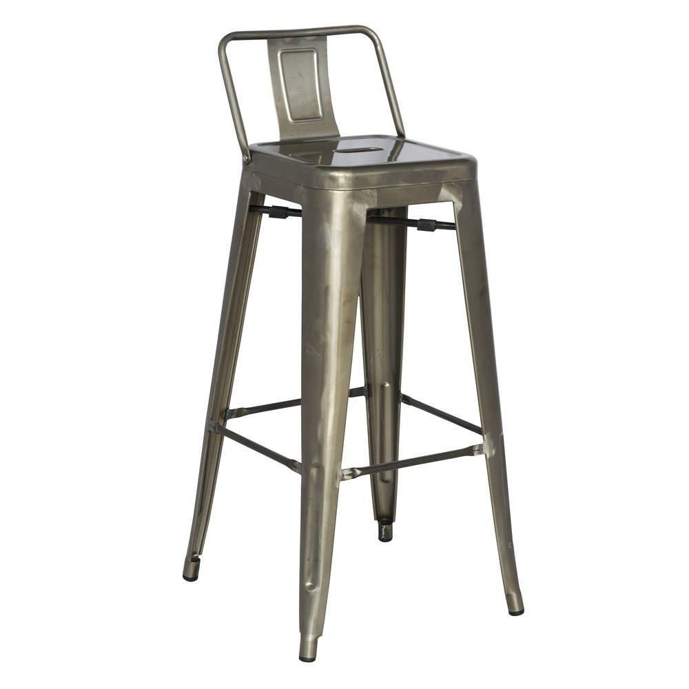 Galvanized 30 Steel Bar Stool Set Set Of 4 By Chintaly Bar