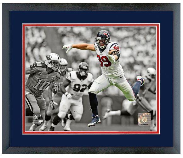 "J. J. Watt 2013 Houston Texans - 11"" x 14"" Framed & Matted ""Spotlight Photo"""