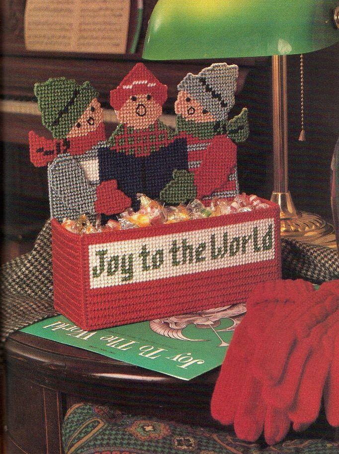Joy to the World ~   plastic canvas book  ~ Centerpiece