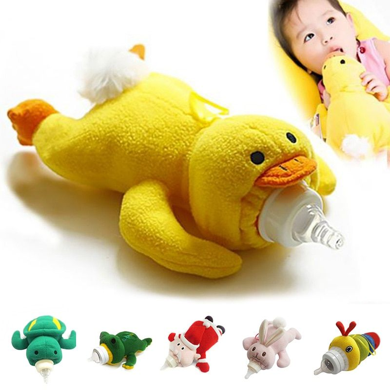 Baby Kids Cartoon Feeding Bottles Bag Lovely Milk Bottle Pouch Cover Toys#3