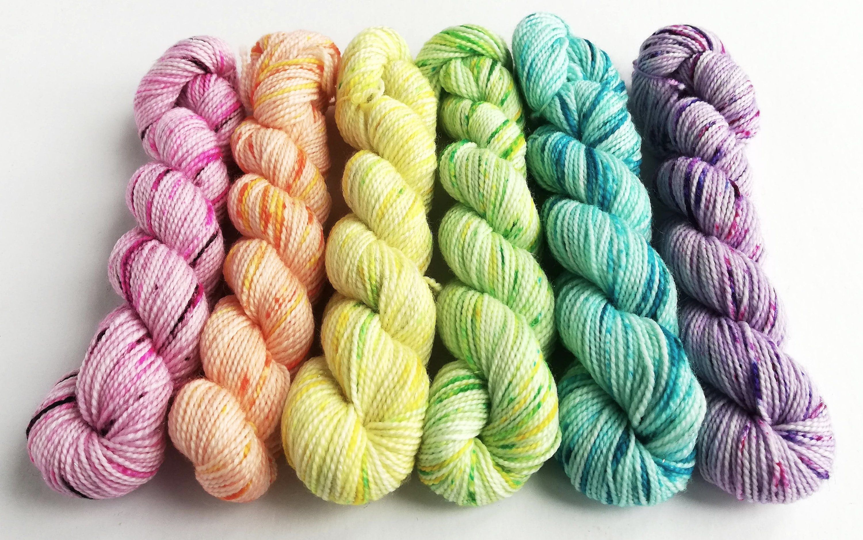 fingering weight hand dyed yarn indie dyed yarn 3 skein sets