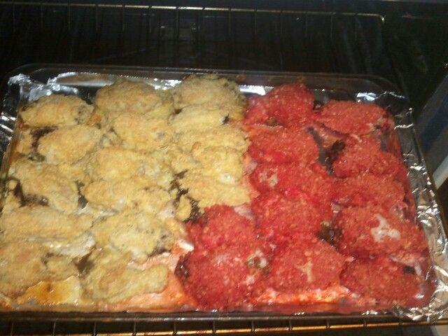 Parmesan & Flamming Hot wings!