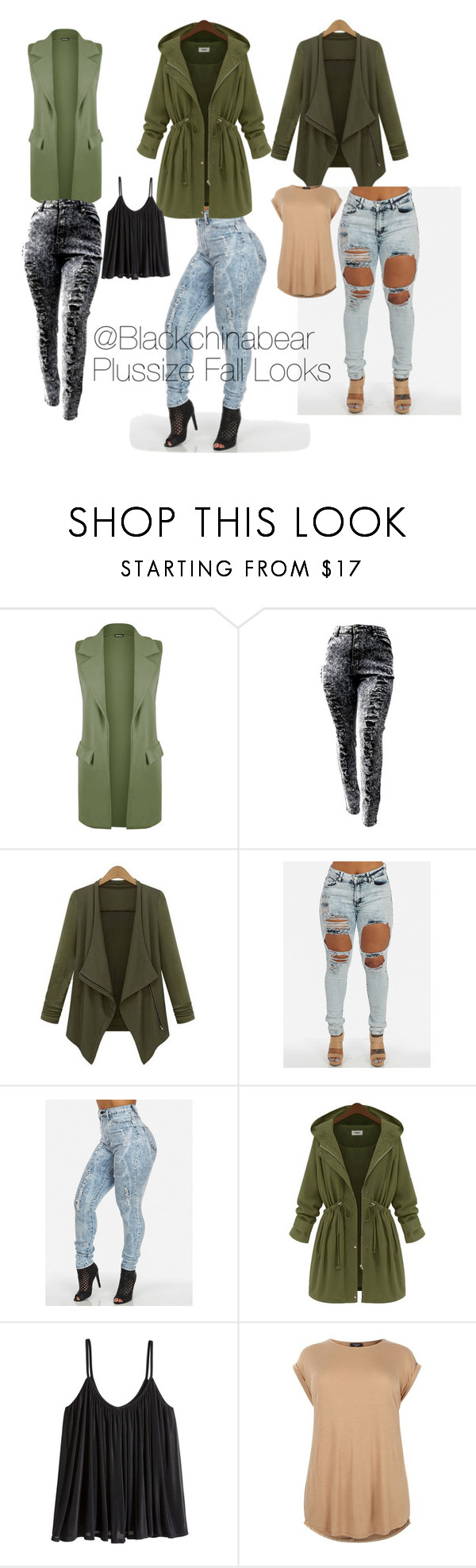 """#4 Olive You"" by blackchinabear ❤ liked on Polyvore featuring WearAll, H&M, ootd, olive, outfitoftheday, plussize, plussizefashion and plus size clothing"