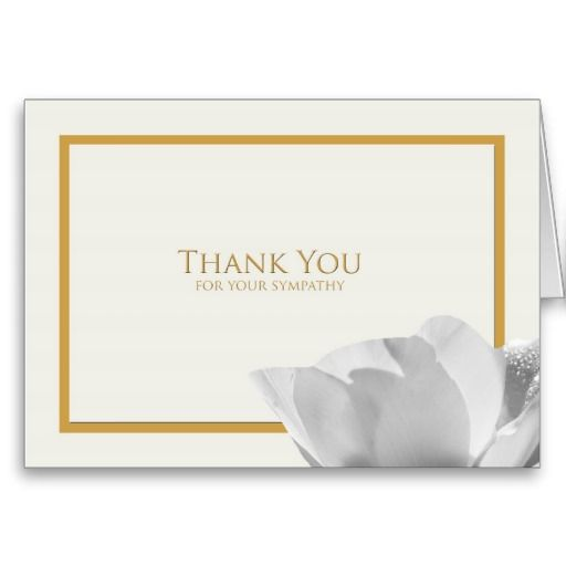 Sympathy Thank You Note Card -- Tulip | Note cards and Note