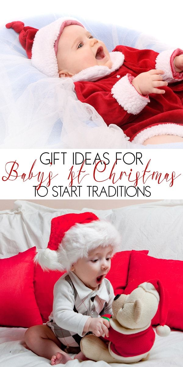 Gift Ideas For First Christmas With Your Baby Baby S First Christmas Gifts Baby Christmas Gifts Newborn Christmas Gifts