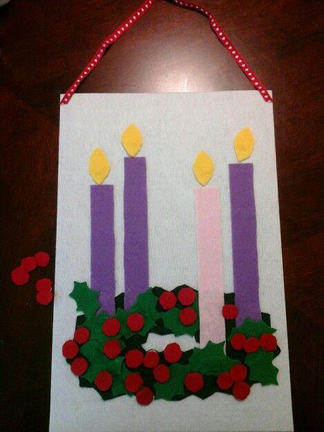 easy felt advent calendar children can count down the days. Black Bedroom Furniture Sets. Home Design Ideas