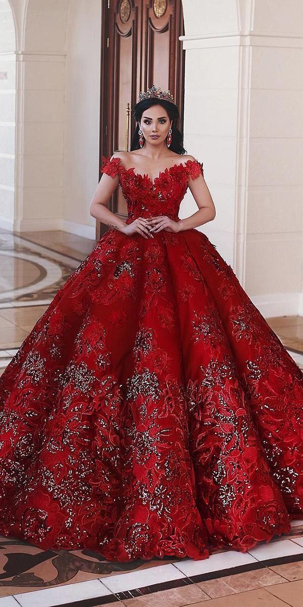 #Brautkleid #Hochzeitskleid #Ihr #Schön #Rot Ihre schönen roten Brautkleider Dresses …