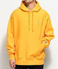 b0ee933d152 Yellow Champion Hoodie