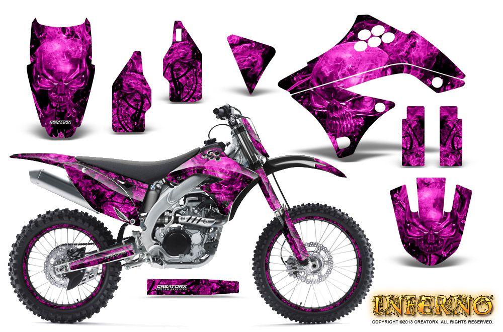 Pink  Dirt bike & accessories Kawasaki KX450F | Motocross